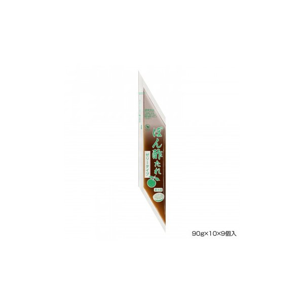 調味料 業務用 まとめ買い  BANJO 万城食品 ぽん酢たれ(ゼリータイプ) 90g×10×9個入 490216 同梱・代引不可