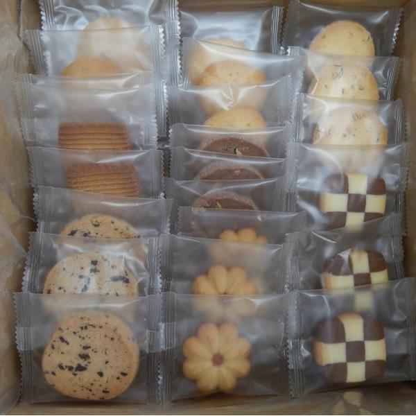 詰め合わせ お得 プレゼント 贈り物 日本製 お茶請け 袋入り ギフト サブレ おやつ かわいい 花型 セット お買い得!個包装クッキー(8種×12枚)合計96枚 同梱・代