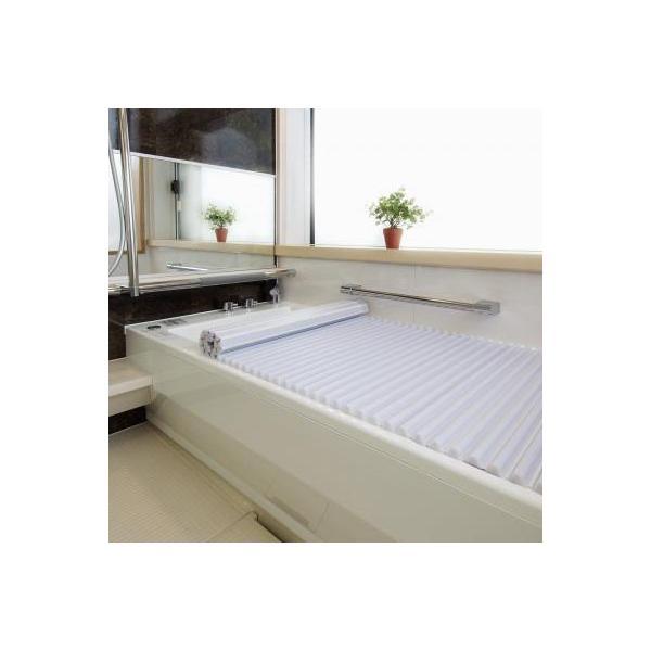 浴槽 お風呂 ふた 湯船 浴室 バスタブ 蓋 バスグッズ 巻き戻り 洗いやすい しにくい イージーウェーブ風呂フタ 70×125cm用 同梱・代引不可