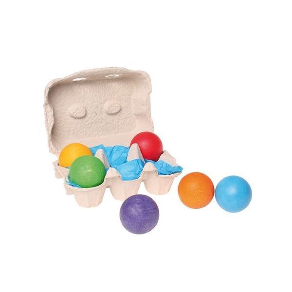 グリムス 10239 6色の木製ボール|ohisamaya