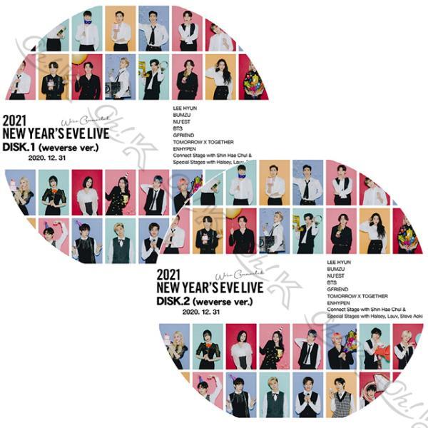 K-POPDVDBTS2021NEWYEAR'SEVELIVE(2020.12.31)2枚SET日本語字幕あり防弾少年団バンタン