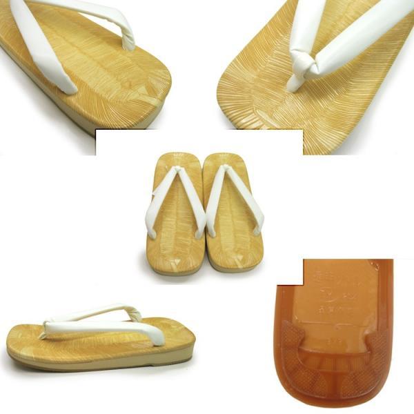 雪駄 メンズ 草履 礼装 白 日本製 表畳風 アメ底 Mサイズ Lサイズ LLサイズ|ohkini|03