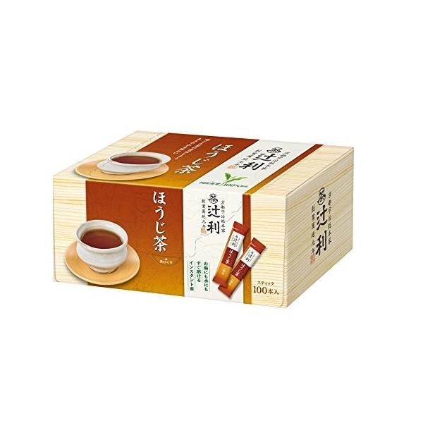 片岡物産 辻利 インスタント ほうじ茶 100P 簡単 スティックタイプ ohmybox