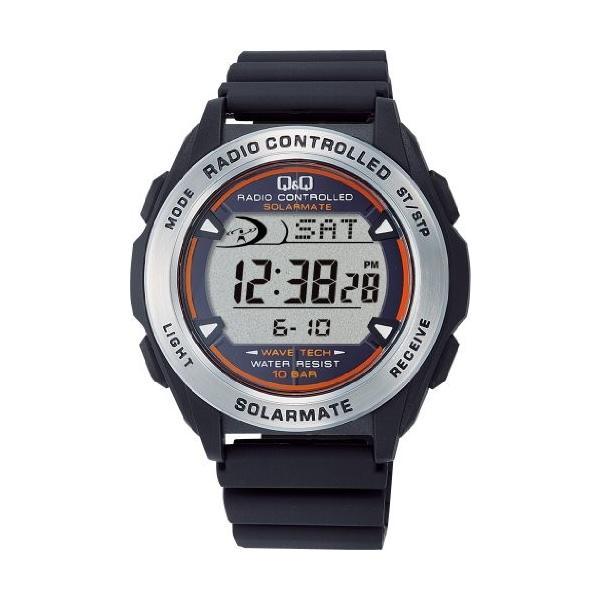 [シチズン キューアンドキュー]CITIZEN Q&Q 腕時計 SOLARMATE (ソーラーメイト) 電波ソーラー デジタル表示 クロノグラフ 10気圧防水 ブラック MHS7-300|ohmybox