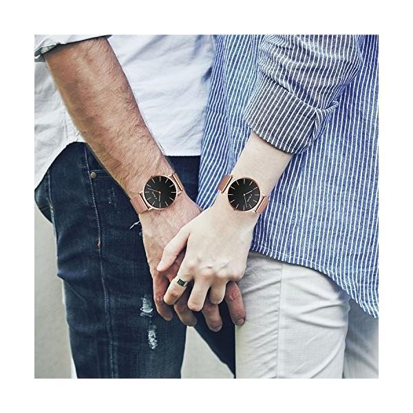 チーヴォユニセックスメンズレディースUltra Thin Watchミニマリスト高級ファッションビジネスドレスカジュアル防水クオーツ腕時計for Man Woman withローズ|ohmybox|03