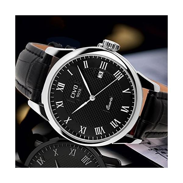 チーヴォメンズラグジュアリー日付カレンダー手首腕時計メンズカジュアルビジネスドレス防水時計シンプルなデザインファッションクラシックアナログクオーツ|ohmybox|05