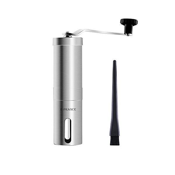 E-PRANCE 手挽きコーヒーミル セラミック ステンレス コーヒーミル手動 ブラシ付き|ohmybox