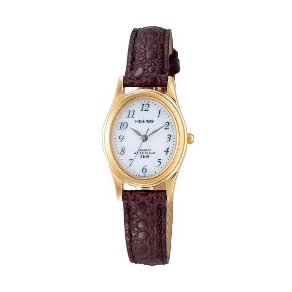 [シチズン キューアンドキュー]CITIZEN Q&Q 腕時計  ソーラー電源 アナログ表示 5気圧防水 ブラウン AA95-9917 レディース