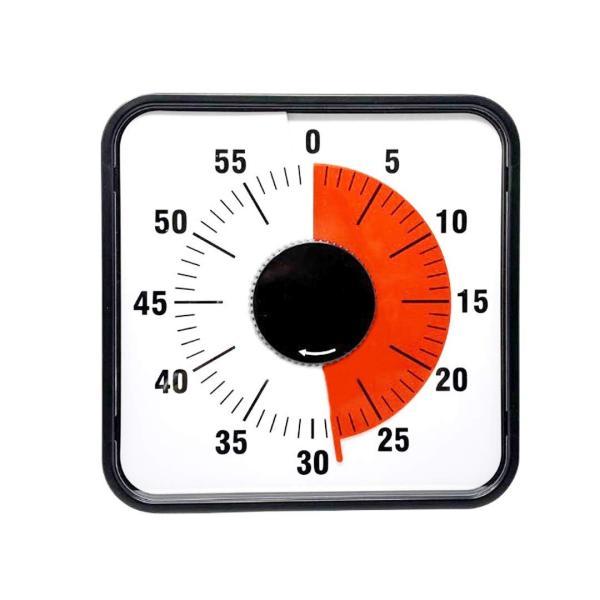 Living Hall タイマー 勉強 タイムタイマー スクールタイマー キッチンタイマー 幼児教育 学習用 料理用 操作簡単 60分 時間管理 (19cm 機械構造)