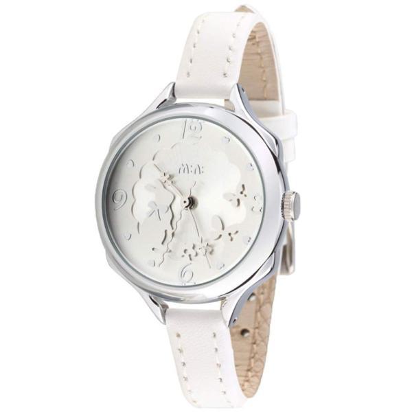 可愛い ウサギ ガールズ レディース 腕時計 ピンク 本革 ベルト キッズ 女子 学生 ウォッチ ローズゴールド カバー (シルバー)