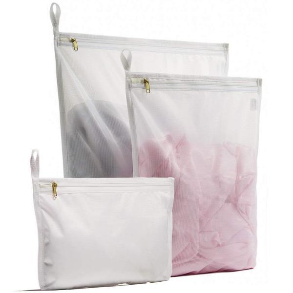 YOKELLMUX 洗濯ネット ランドリーネット 洗濯袋 洗濯バッグ ブラジャー/下着/Tシャツなど適用 3枚入れ 角型/型崩れ防止/傷み防止 細かい網目 丈夫 旅行収納