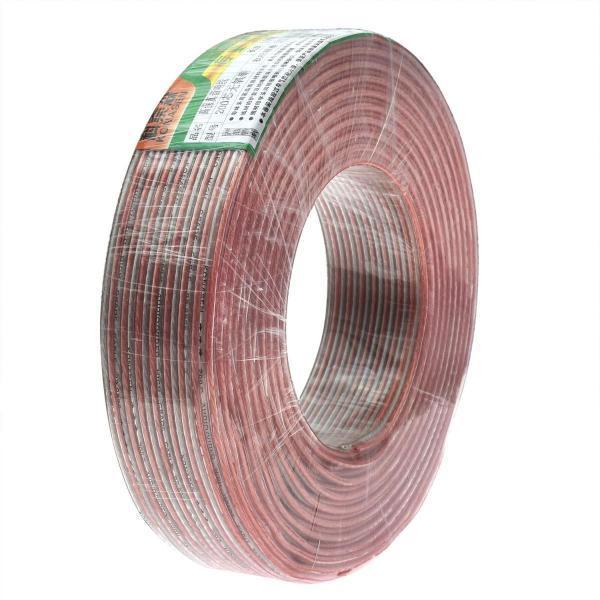 スピーカーケーブル無酸素銅音響ケーブル15メートル耐久性向上高純度OFC高忠実度スズメッキ銅線ケーブル16AWG-15M二重皮膜