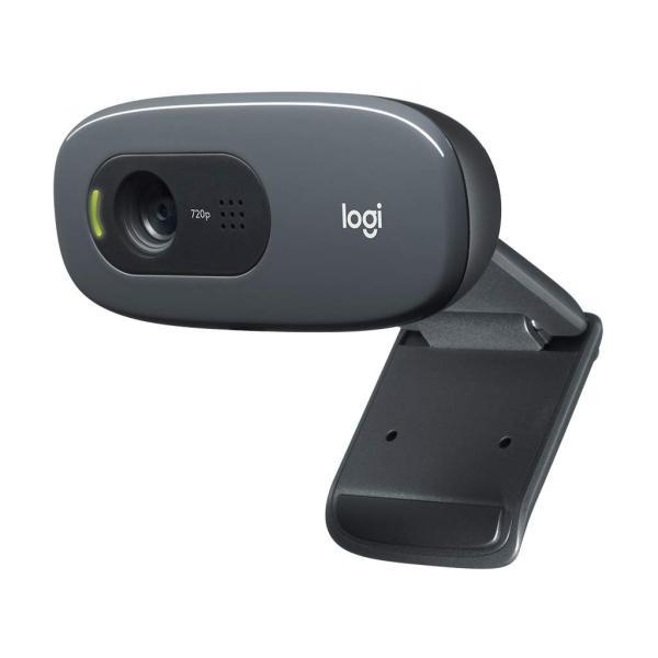 在宅ワーク テレビ電話 ロジクール ウェブカメラ C270n ブラック HD 720P ウェブカム ストリーミング 小型 シンプル設計