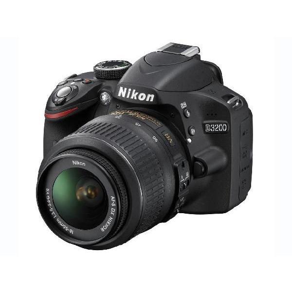 Nikon D3200 レンズキット AF-S DX NIKKOR 18-55mm f/3.5-5.6G VR ブラック