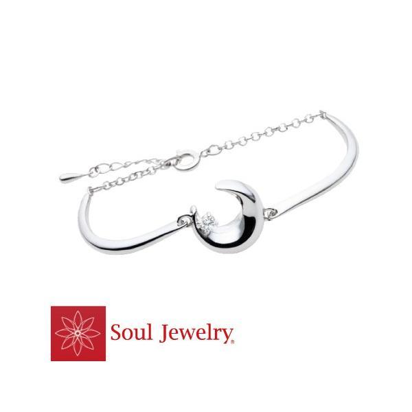 遺骨ブレスレット ブレスレット クレッセント バングルタイプ シルバー925 / Cz 遺骨収納 Soul Jewelry ソウルジュエリー No.369