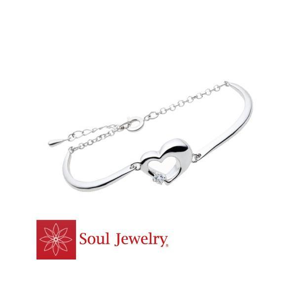 遺骨ブレスレット ブレスレット ハート バングルタイプ シルバー925 / Cz 遺骨収納 Soul Jewelry ソウルジュエリー No.368