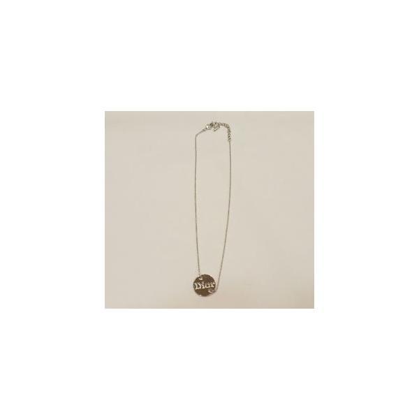 Dior Diorロゴくりぬきネックレス  シルバー