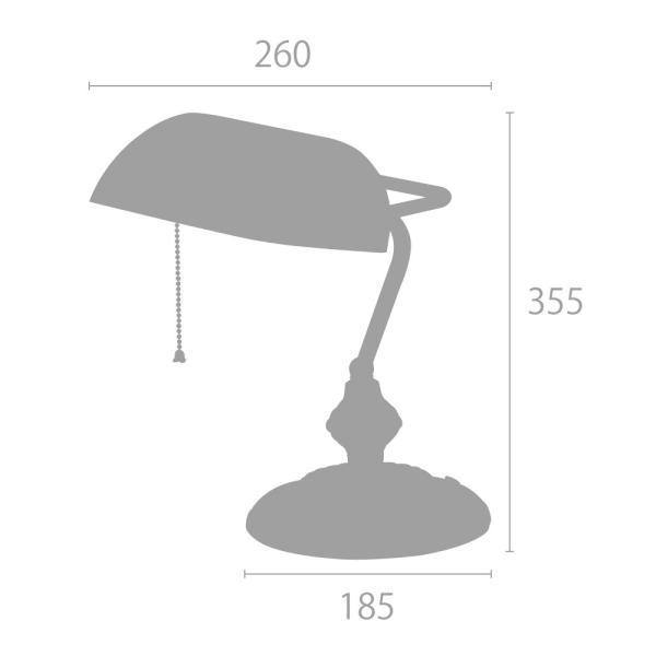 デスクライト バンカーズランプ デスクスタンド テーブルライト アンティーク レトロ 緑 グリーン ガラスLED対応 507 oibby 03