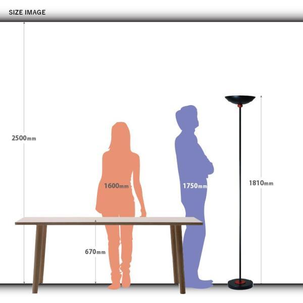 間接照明 アッパーライト LED電球対応 フロアスタンド (M001 WH/BK)|oibby|11