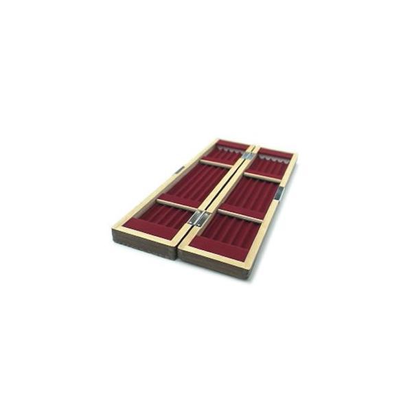 国産 桐 時代塗り 浮子箱 5列2面[30cm]
