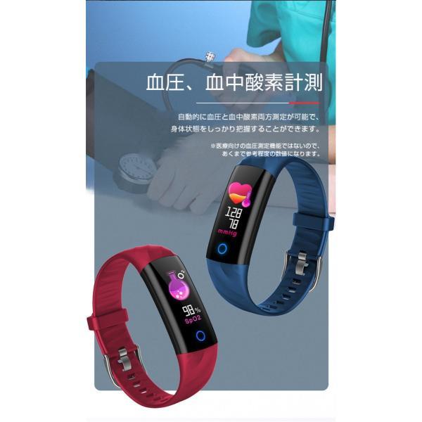 スマートウォッチ iPhone 対応 アンドロイド 日本語 説明書 血圧 血中酸素計測 電話Lineメール着信通知 生活防水 歩数計 心拍数 メンズ レディース S5 oiljapan 08