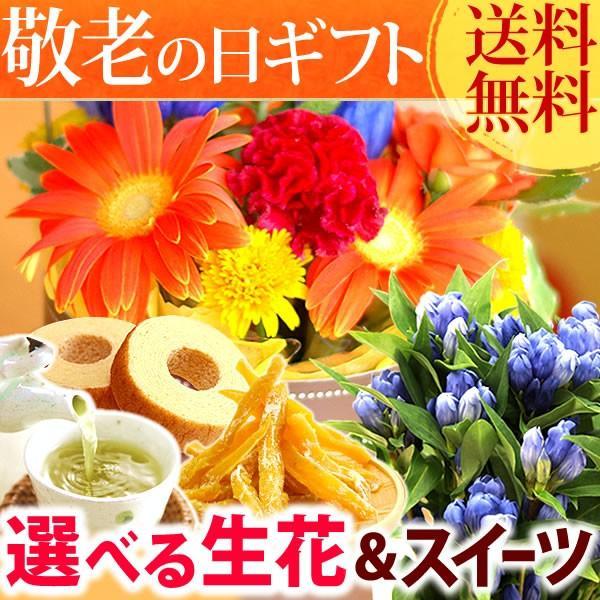 敬老の日 プレゼント 花 お菓子 グルメ  鉢花 生花 アレンジメント oimoya