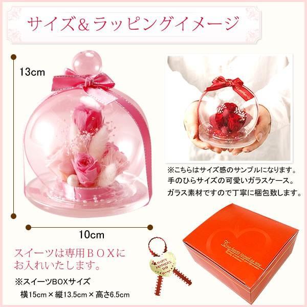 誕生日 プレゼント 花の贈り物 ガラス プリザーブドフラワー お菓子|oimoya|14
