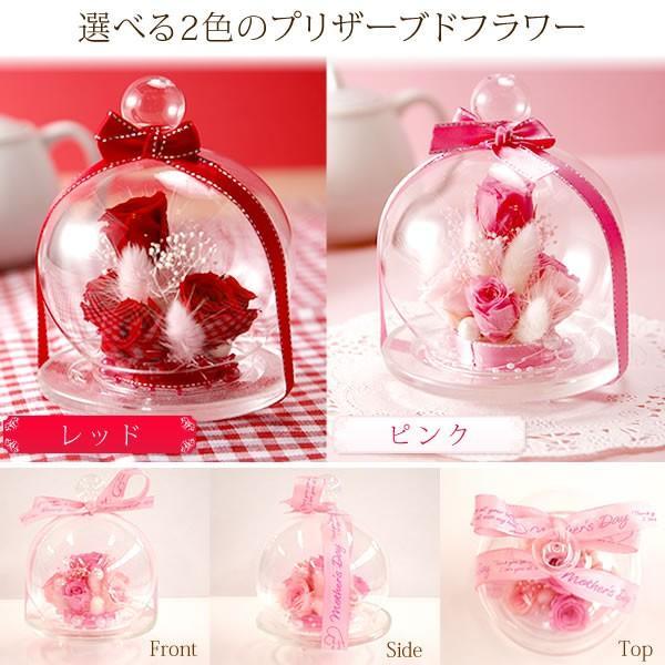誕生日 プレゼント 花の贈り物 ガラス プリザーブドフラワー お菓子|oimoya|04