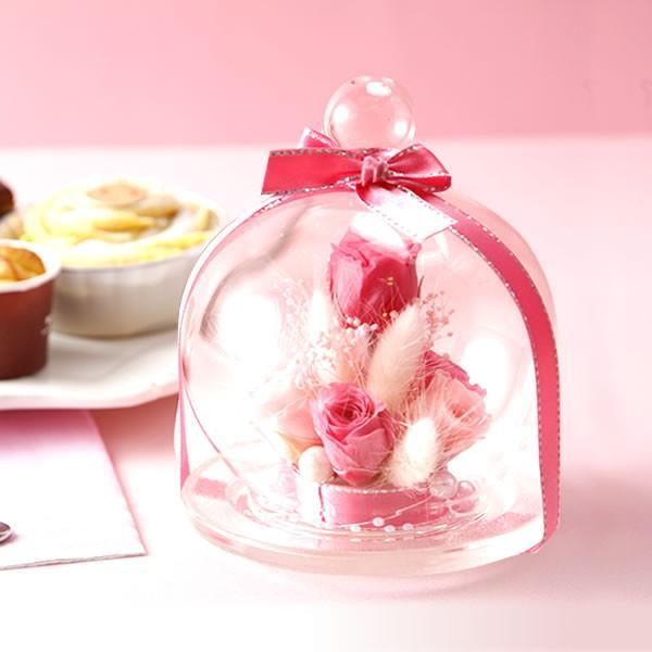 誕生日 プレゼント 花の贈り物 ガラス プリザーブドフラワー お菓子|oimoya|06