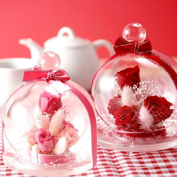 誕生日 プレゼント 花の贈り物 ガラス プリザーブドフラワー お菓子|oimoya|07