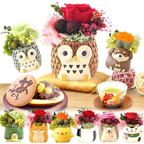 母の日花2021プレゼントギフトスイーツギフト お菓子プリザーブドフラワー和菓子洋菓子花とスイーツ