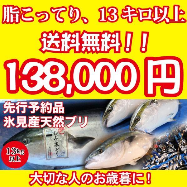 2021年入荷次第発送開始 [天然ブリの王様!美味しい魚特選海鮮ギフト]氷見産 天然寒ブリ13kg以上[国産][通常便]