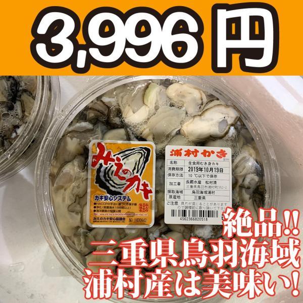 送料無料!【冷凍じゃない!】水に浸かっていないので縮みにくい牡蠣です。三重県鳥羽浦村産の生牡蠣むき身(特大) 500g 円盤パック1個