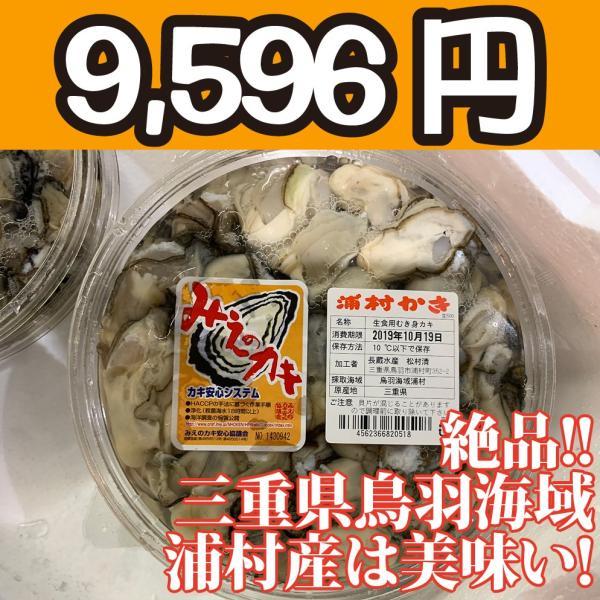 送料無料!【冷凍じゃない!】水に浸かっていないので縮みにくい牡蠣です。三重県鳥羽浦村産の生牡蠣むき身(特大) 500g 円盤パック3個