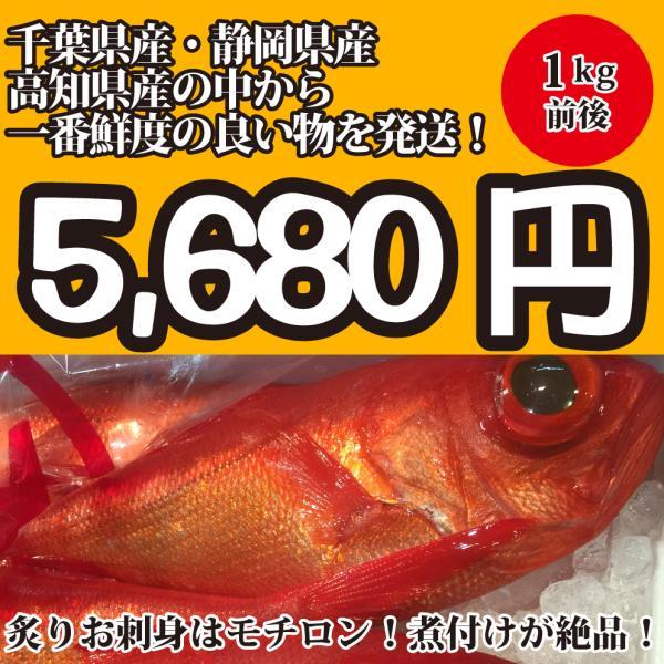 (国産)金目鯛1kg前後 千葉県産・静岡県産・高知県産の中から一番鮮度の良い物を発送します|oishii-sakana