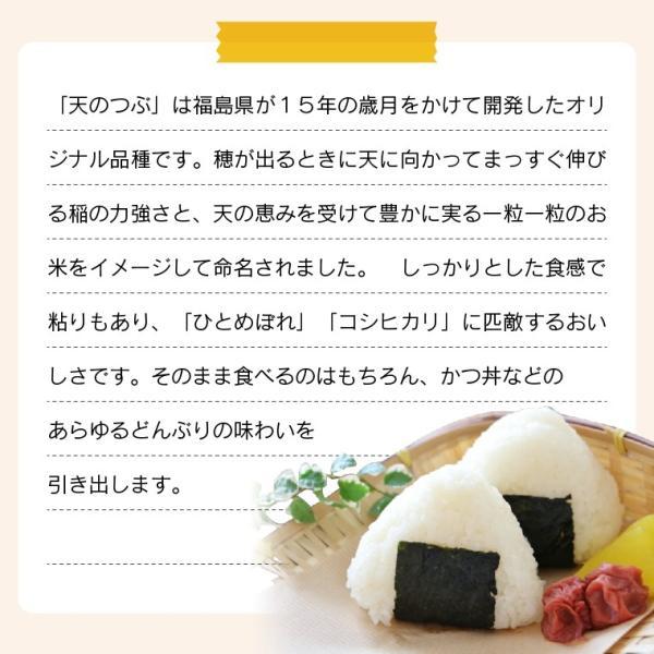新米 お米 30Kg 福島県産 天のつぶ 送料無料 無洗米 精米 令和元年産 一等米|oisiiokomedesu|08