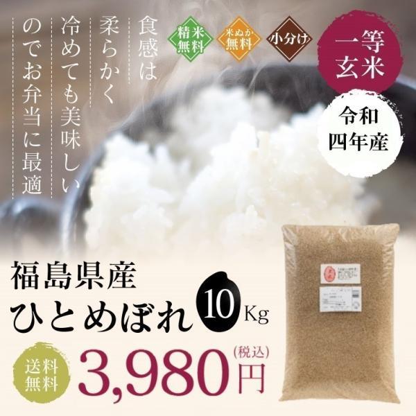 お米 10Kg 福島県産 ひとめぼれ 送料無料 無洗米 精米 令和元年産 一等米|oisiiokomedesu