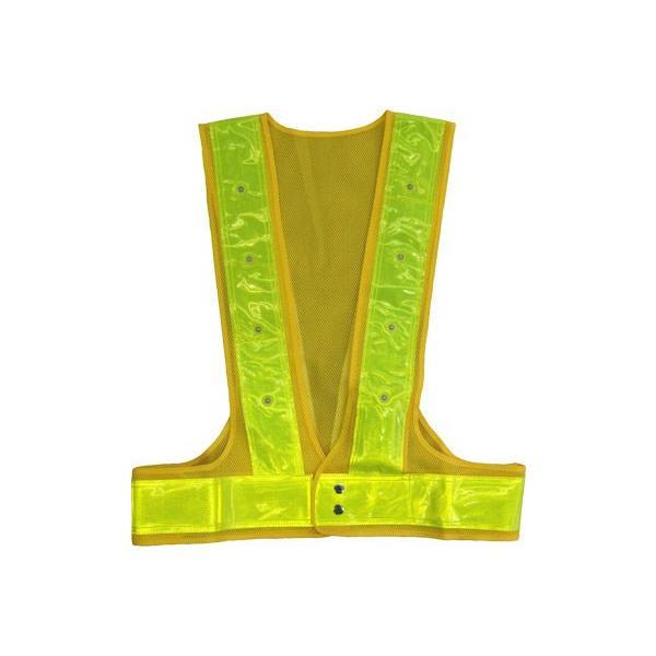反射ベスト 安全ベスト メッシュ LED赤色タイプ 7cm幅反射テープ|okacho-store|03