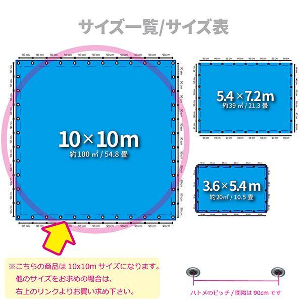 ブルーシート 厚手 防水 3000 規格 10m×10m サイズ 正規品 1枚 法人様限定|okacho-store|02