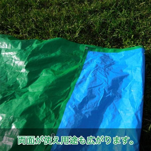 ブルーシート 防水 厚手 タープ 3000 3.6m×5.4m 緑&青 1枚 okacho-store 04