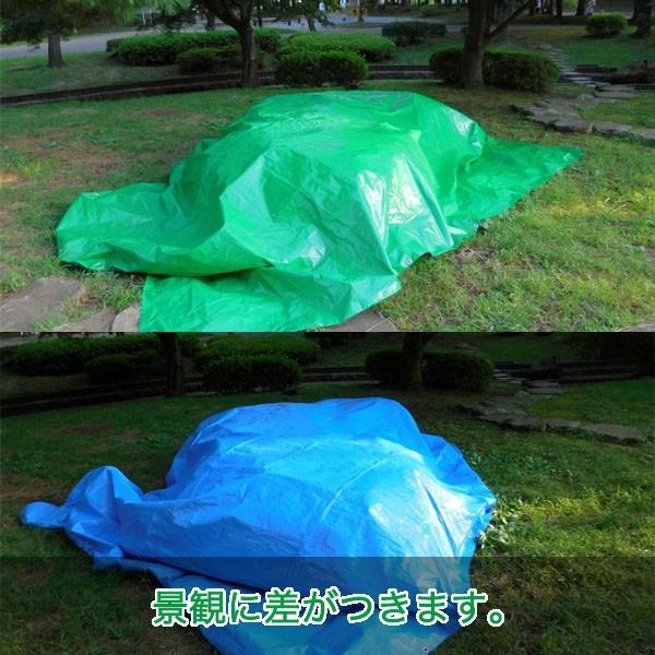ブルーシート 防水 厚手 タープ 3000 3.6m×5.4m 緑&青 1枚 okacho-store 06