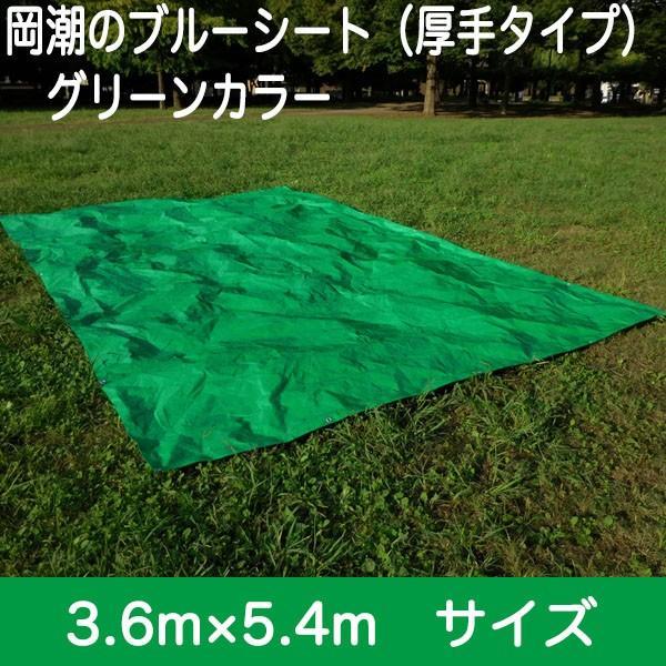 ブルーシート #3000 厚手防水 サイズ3.6m×5.4m(10枚入)緑&青|okacho-store