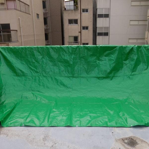 ブルーシート #3000 厚手防水 サイズ3.6m×5.4m(10枚入)緑&青|okacho-store|03