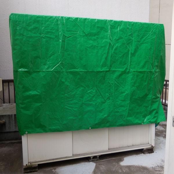 ブルーシート #3000 厚手防水 サイズ3.6m×5.4m(10枚入)緑&青|okacho-store|04