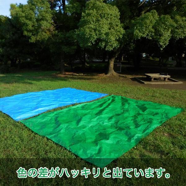 ブルーシート #3000 厚手防水 サイズ3.6m×5.4m(40枚入) 緑&青|okacho-store|06