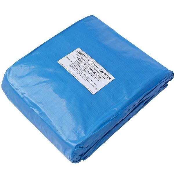 ブルーシート #3000 厚手防水 サイズ5.4m×7.2m 1枚 緑&青|okacho-store|04