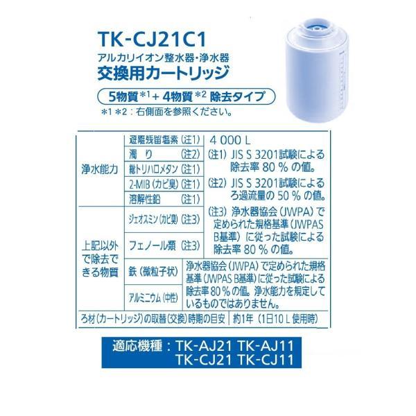 パナソニック 浄水器カートリッジ 蛇口直結型用 ミズトピア 1個 TK-CJ21C1|okada-store|04