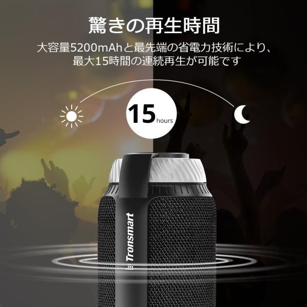 Tronsmart T6 Bluetooth スピーカー 高音質 25W出力 360°全方位サウンド 低音強化 15時間連続再生 内蔵マイク