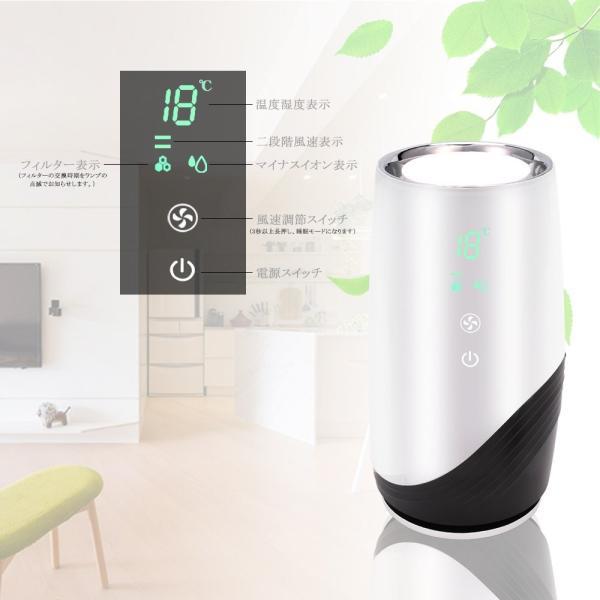OKWINT 空気清浄機 小型 人気 静音 脱臭 イオン発生 風量調節可 タバコ 花粉 対策 ホコリ除去 省エネ 殺菌 温度湿度表示 HEP