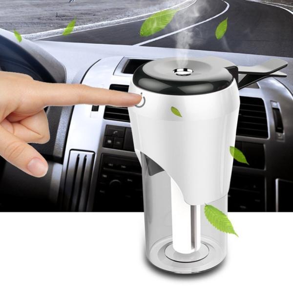 車載 加湿器 ミニ 超音波 静音設計 USB充電ポート スマホ充電対応 シガー ソケット